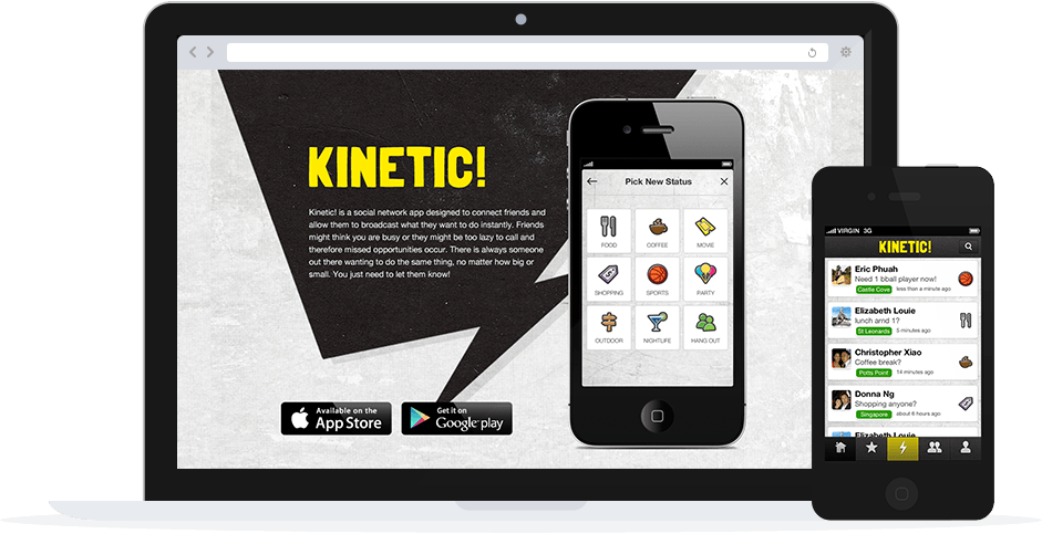 Kinetic iphone app developed by sentia