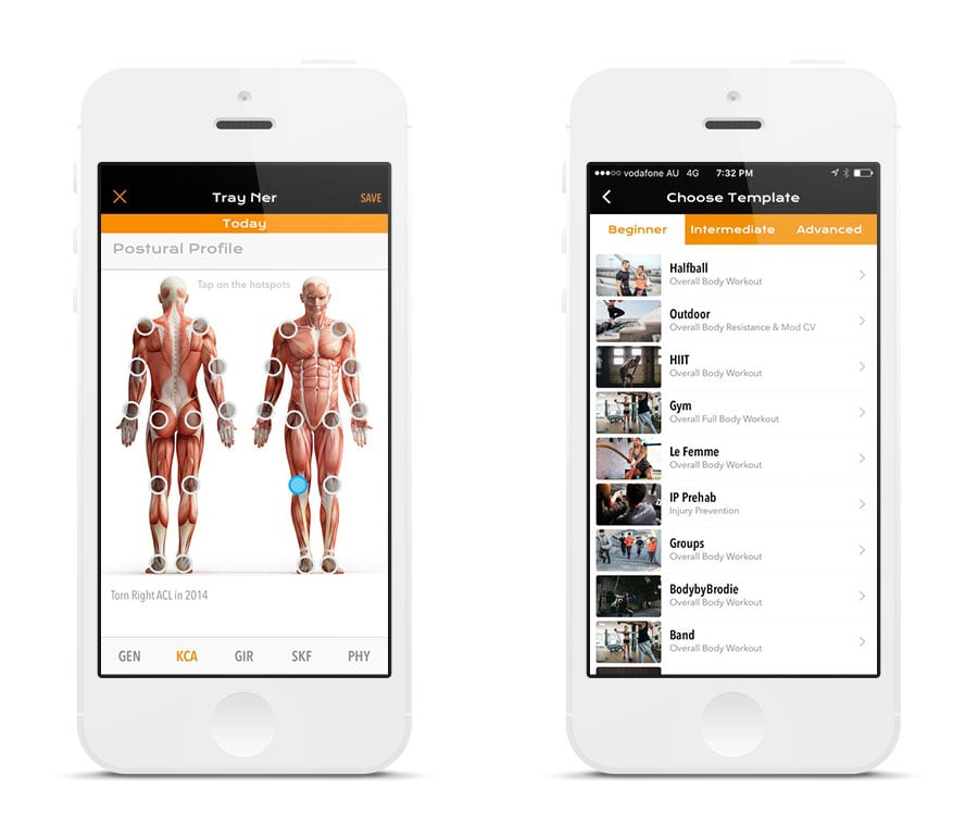 clients screen on iphone app development by sentia