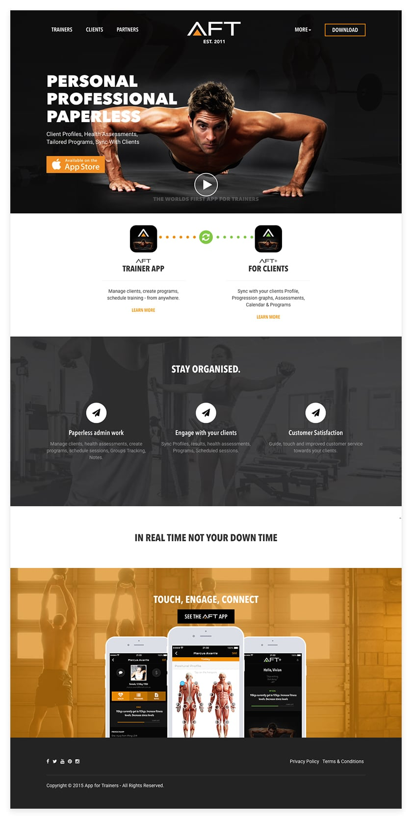 homepage of iphone app development by sentia